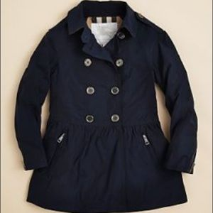 Burberry girls navy trench coat size 14 Y